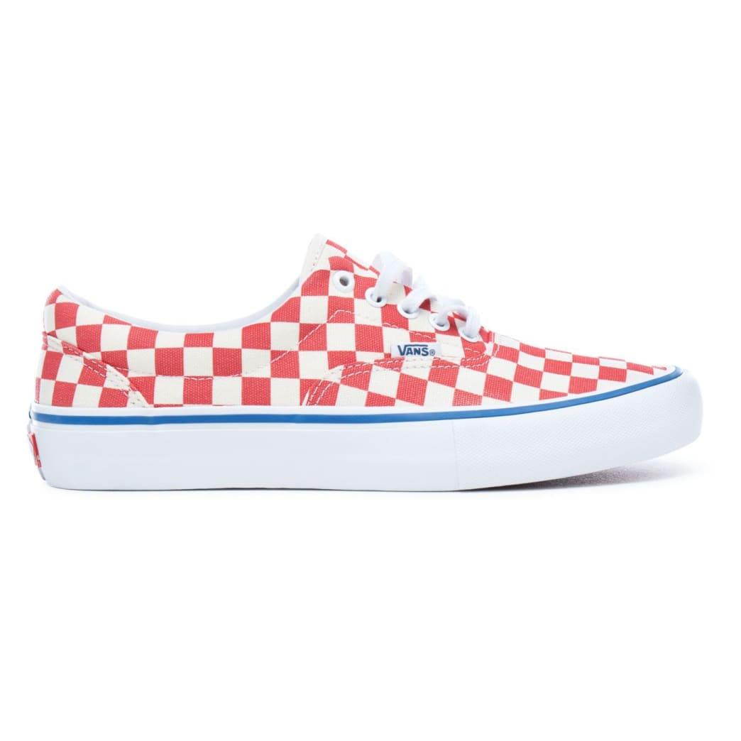 Vans Checkerboard Era Pro Skateboard Shoes - Rococco Red/Classic White | Shoes by Vans 1