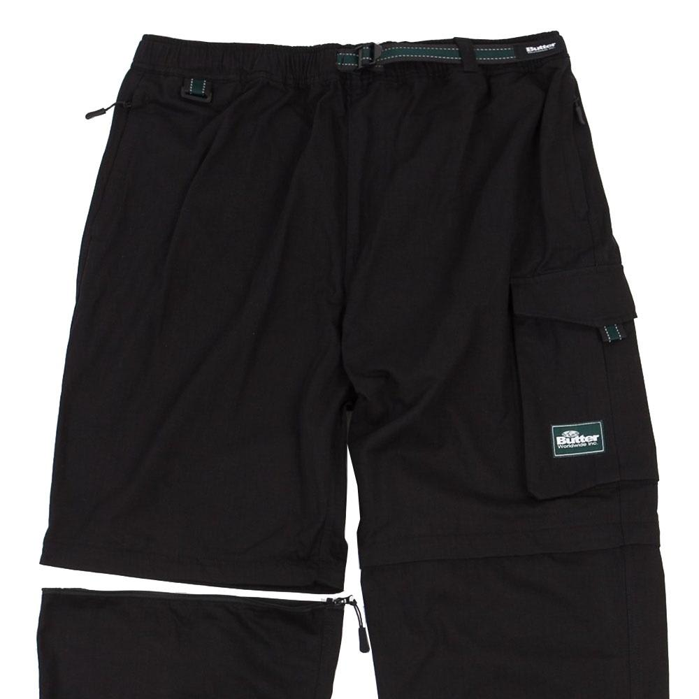 Butter Goods - Hiking Zip Off Cargo Pants - Black | Trousers by Butter Goods 2