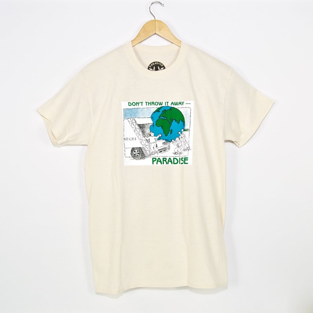 Paradise.NYC Don't Throw It Away T-Shirt - Cream | T-Shirt by Paradise.NYC 1