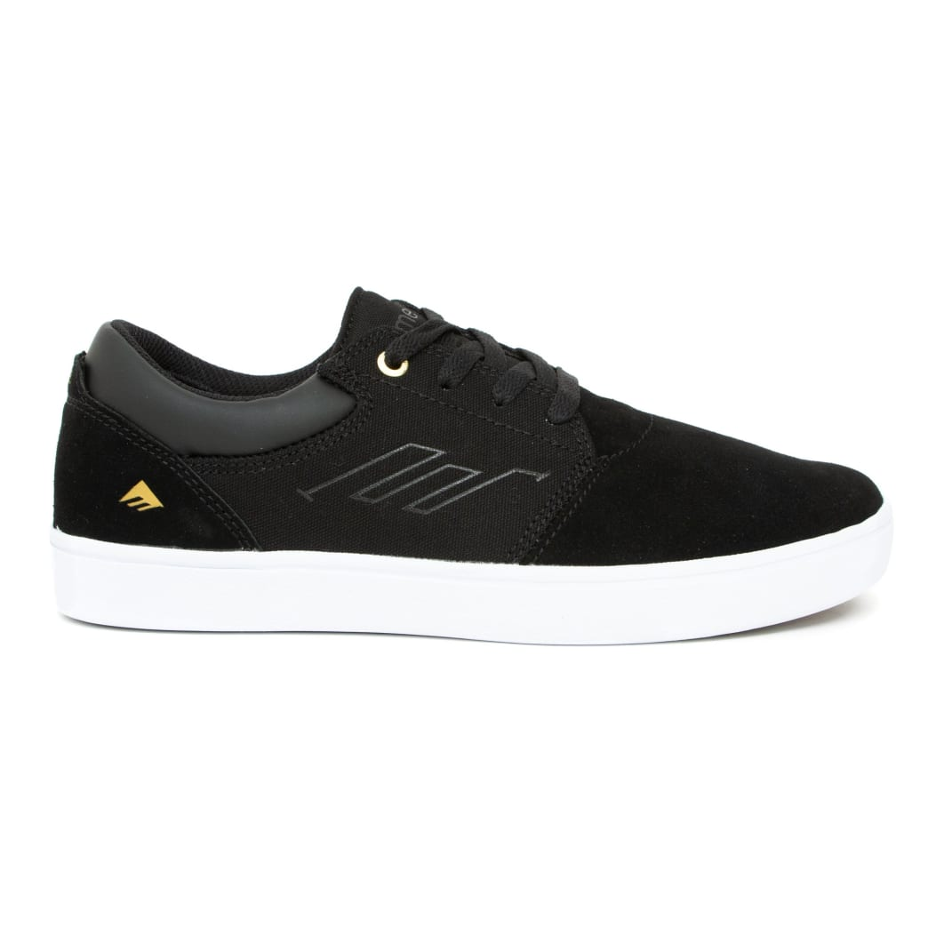 Emerica Alcove CC Skate Shoes - Black / White / Gold | Shoes by Emerica 3