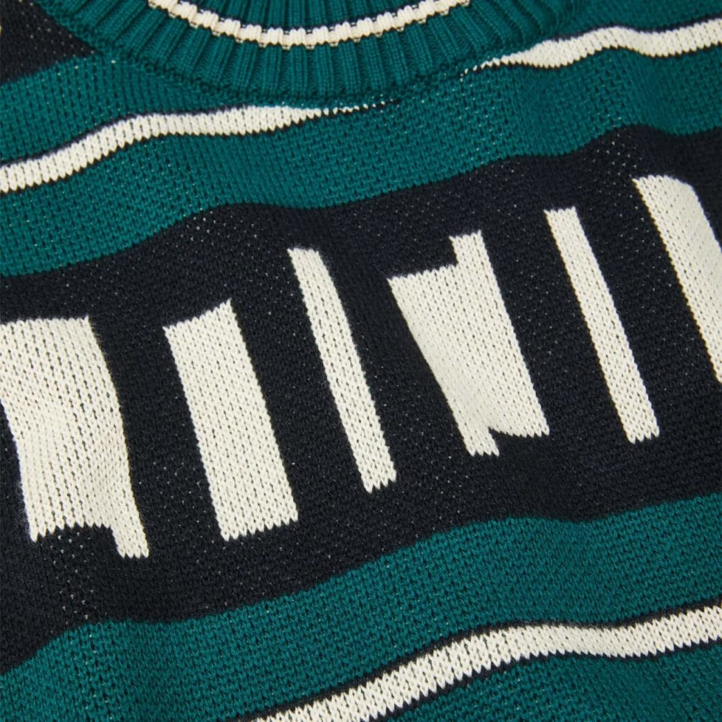 Polar Skate Co Square Logo Knitted Sweater - Green / Black / Ivory | Sweatshirt by Polar Skate Co 3
