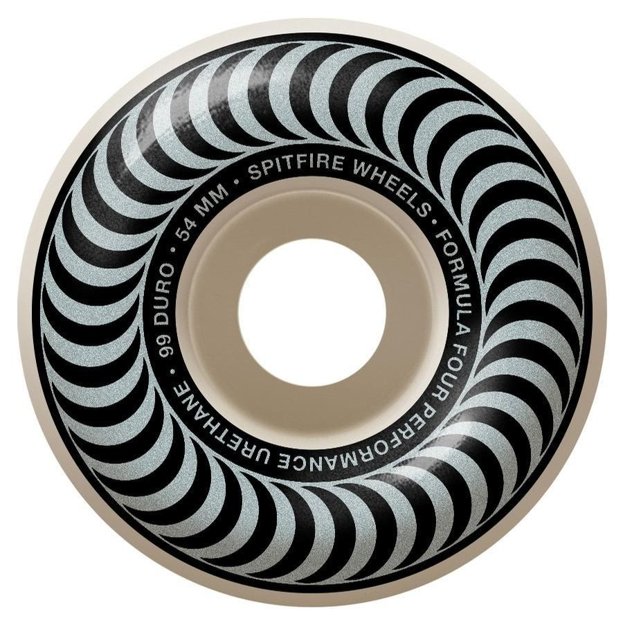 Spitfire - F4 101 Classic Silver 54mm Wheels | Wheels by Spitfire Wheels 1