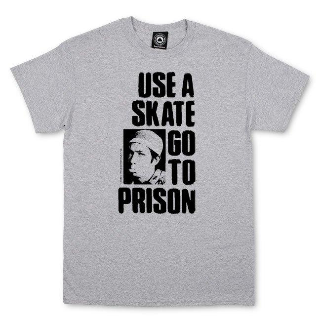 Thrasher Use A Skate Go To Prison Tee Heather Grey | T-Shirt by Thrasher 1
