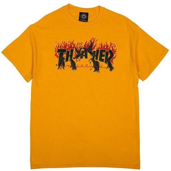 Thrasher Crows T-Shirt - Gold | T-Shirt by Thrasher 1