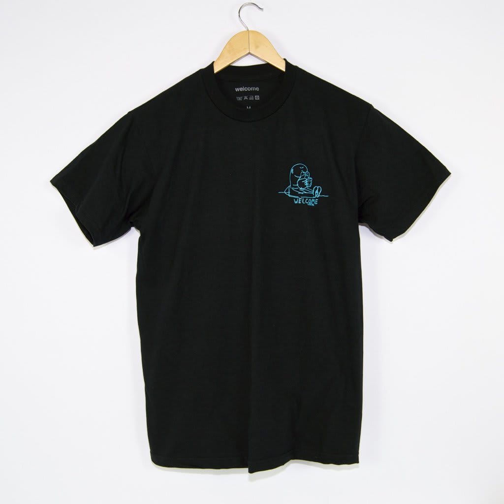 Welcome Skate Store - Gonz T-Shirt - Black / Bright Blue / Golden Orange | T-Shirt by Welcome Skate Store 2