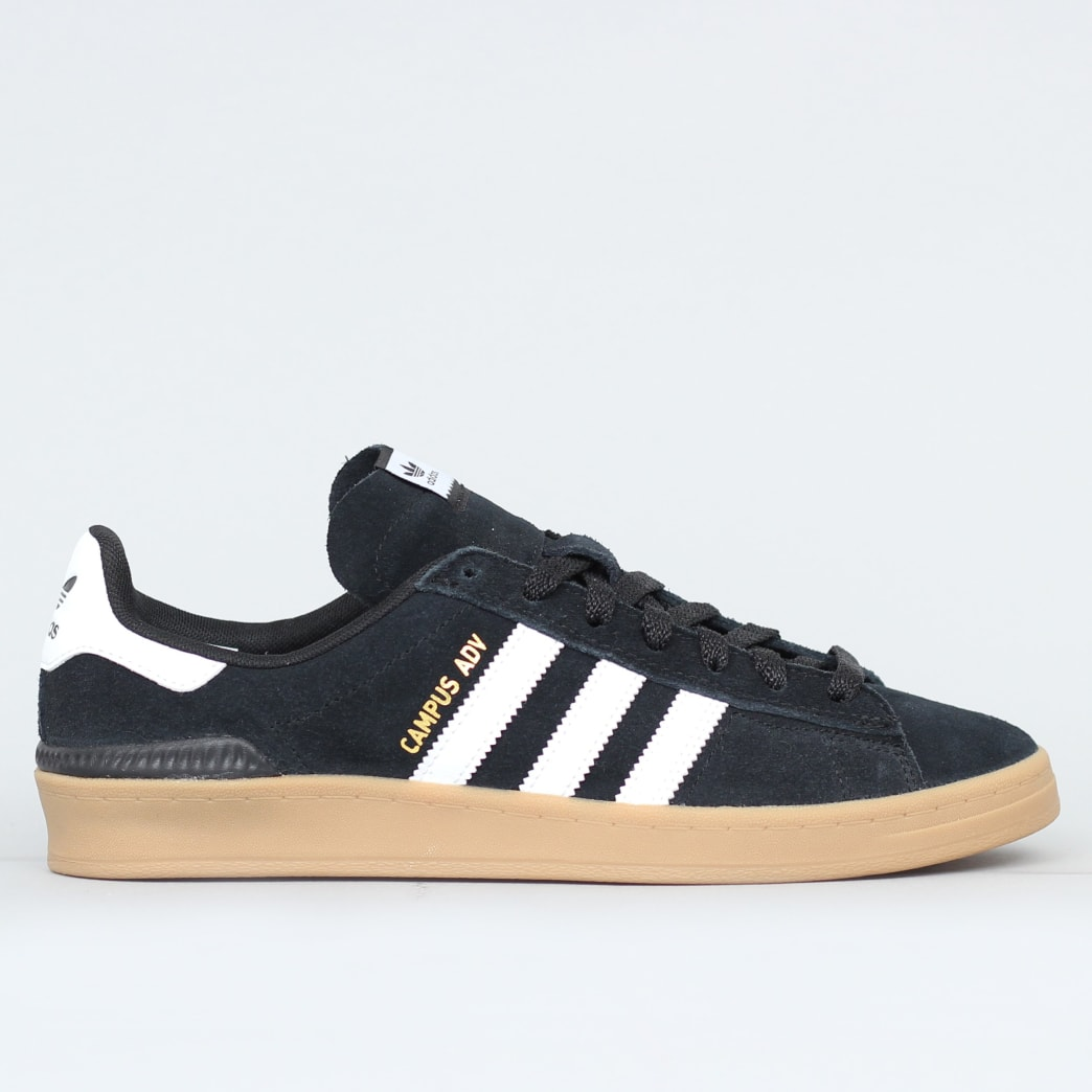 adidas Campus Advance Shoes Core Black / Footwear White / Gum 4 | Shoes by adidas Skateboarding 1