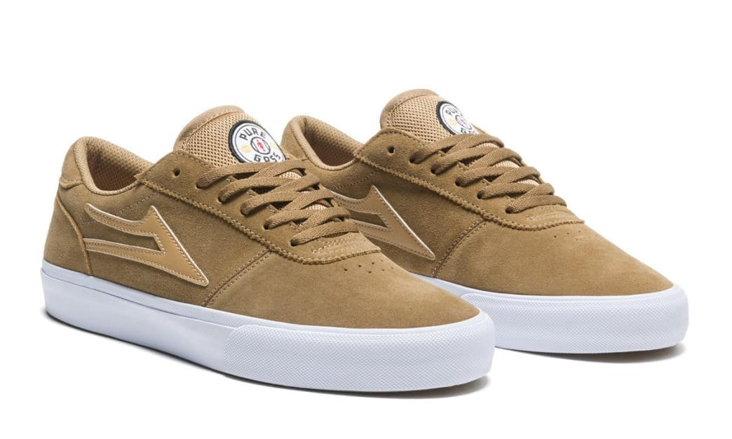 Lakai Manchester Griffin Gass Suede Skate Shoes - Walnut | Shoes by Lakai 3