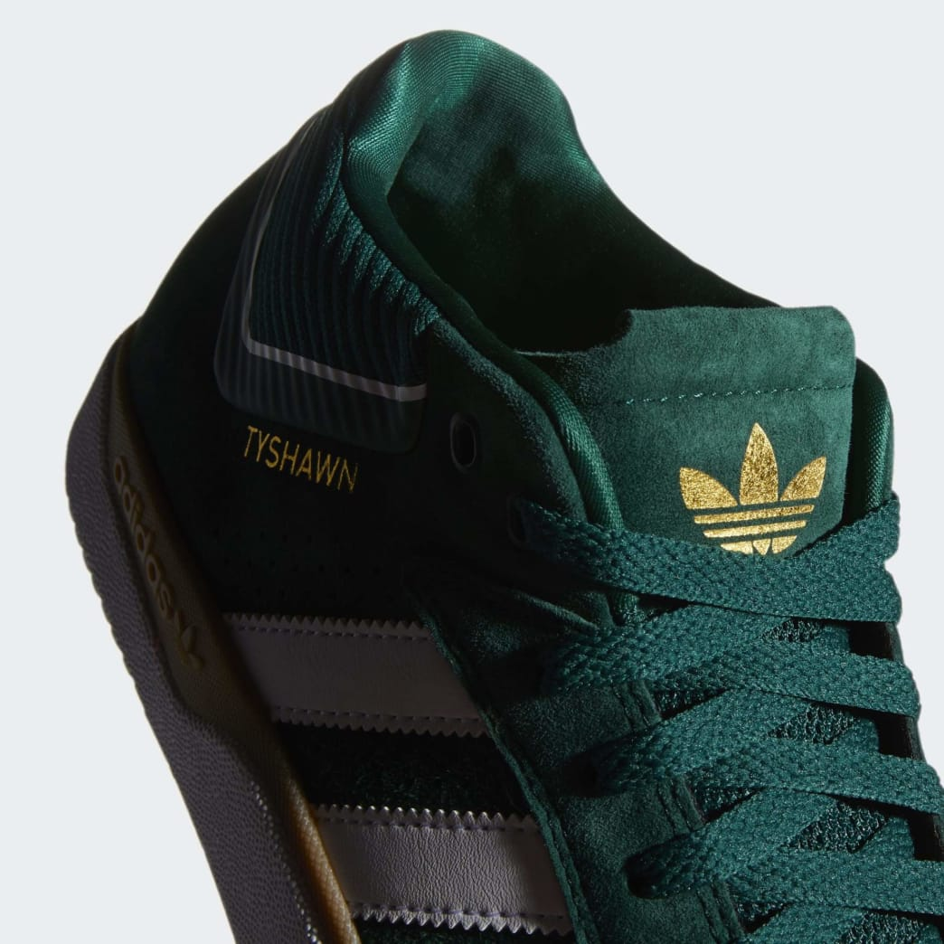 adidas Tyshawn Jones Shoes - Collegiate Green/Cloud White/Gum | Shoes by adidas Skateboarding 8
