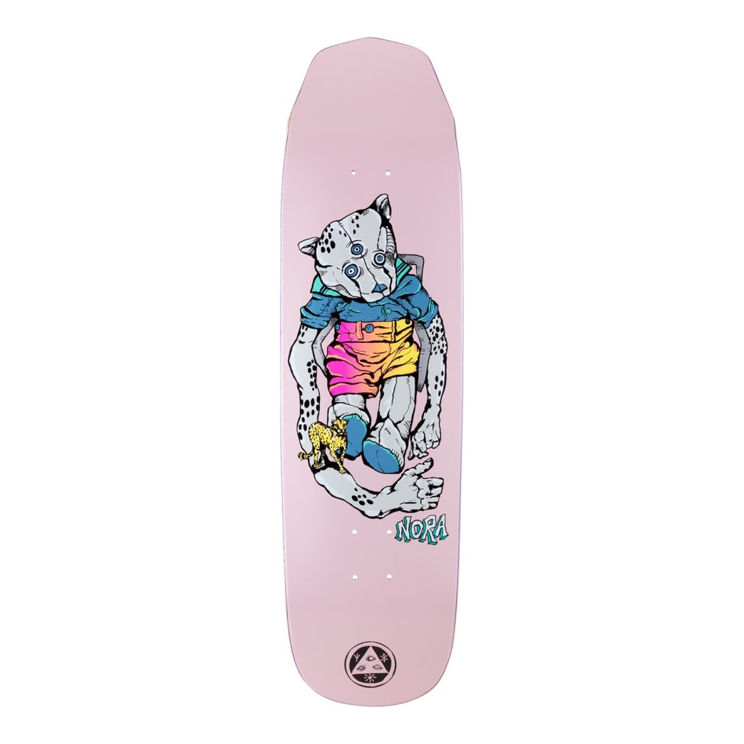 Welcome Nora Vasconcellos Teddy on Wicked Queen Pink Skateboard Deck - 8.6"