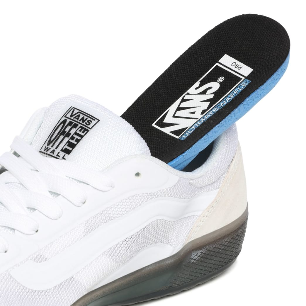 Vans AVE Pro Skate Shoes - White / Smoke | Shoes by Vans 8