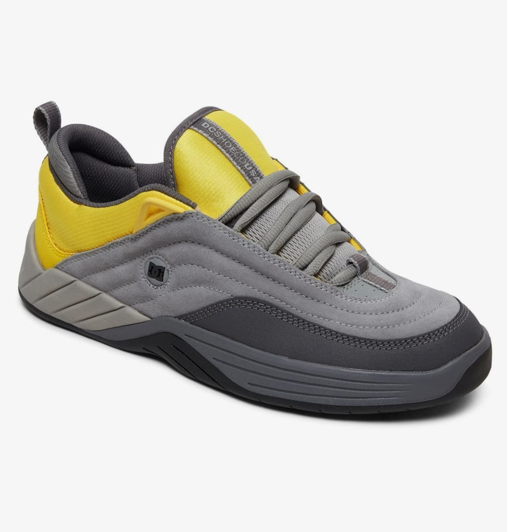 DC Williams Slim S Skateboarding Shoes - Grey/Yellow | Shoes by DC Shoes 2