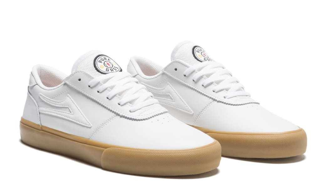 Lakai Manchester Griffin Gass Leather Skate Shoes - White | Shoes by Lakai 2
