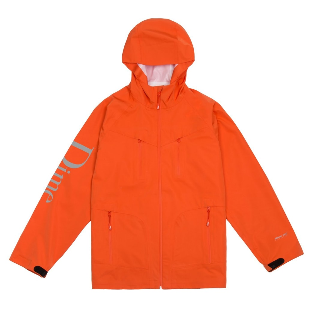 Dime Classic Logo Shell Jacket - Orange | Jacket by Dime MTL 1