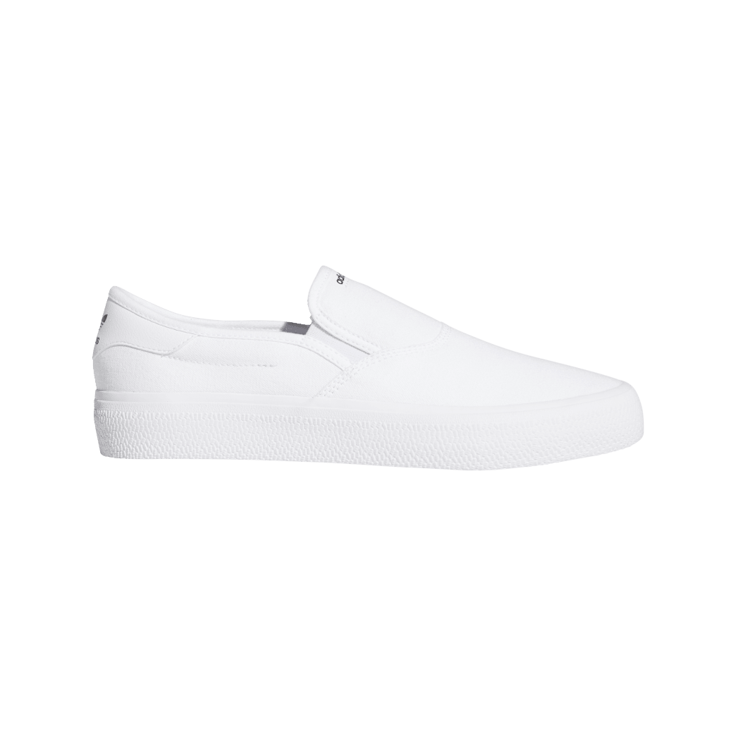 adidas 3MC Slip-On Skate Shoes - Cloud White / Cloud White / Core Black | Shoes by adidas Skateboarding 1