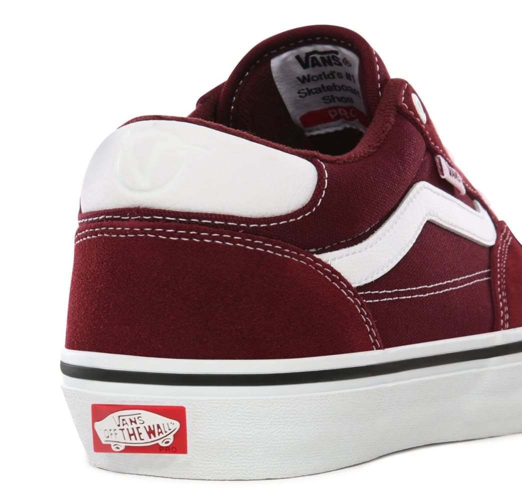 Vans Rowan Pro Skate Shoes - Port / White | Shoes by Vans 6