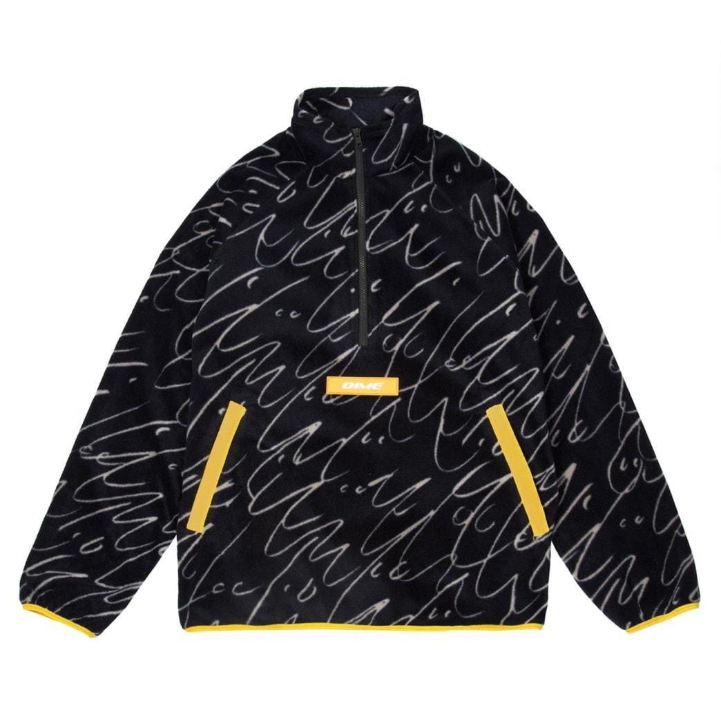Dime Faces Quarter Zip Fleece - Black | Jacket by Dime MTL 1