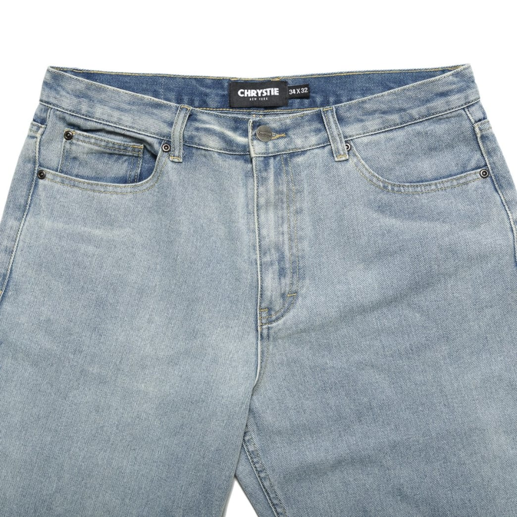 Chrystie NYC Relaxed Fit Denim Pants - Washed Blue | Jeans by Chrystie NYC 3