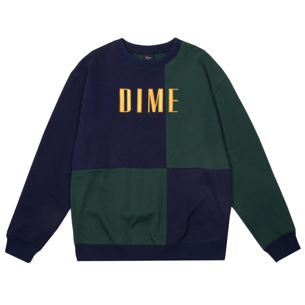 Dime Block Terry Crewneck - Navy / Green | Sweatshirt by Dime MTL 1
