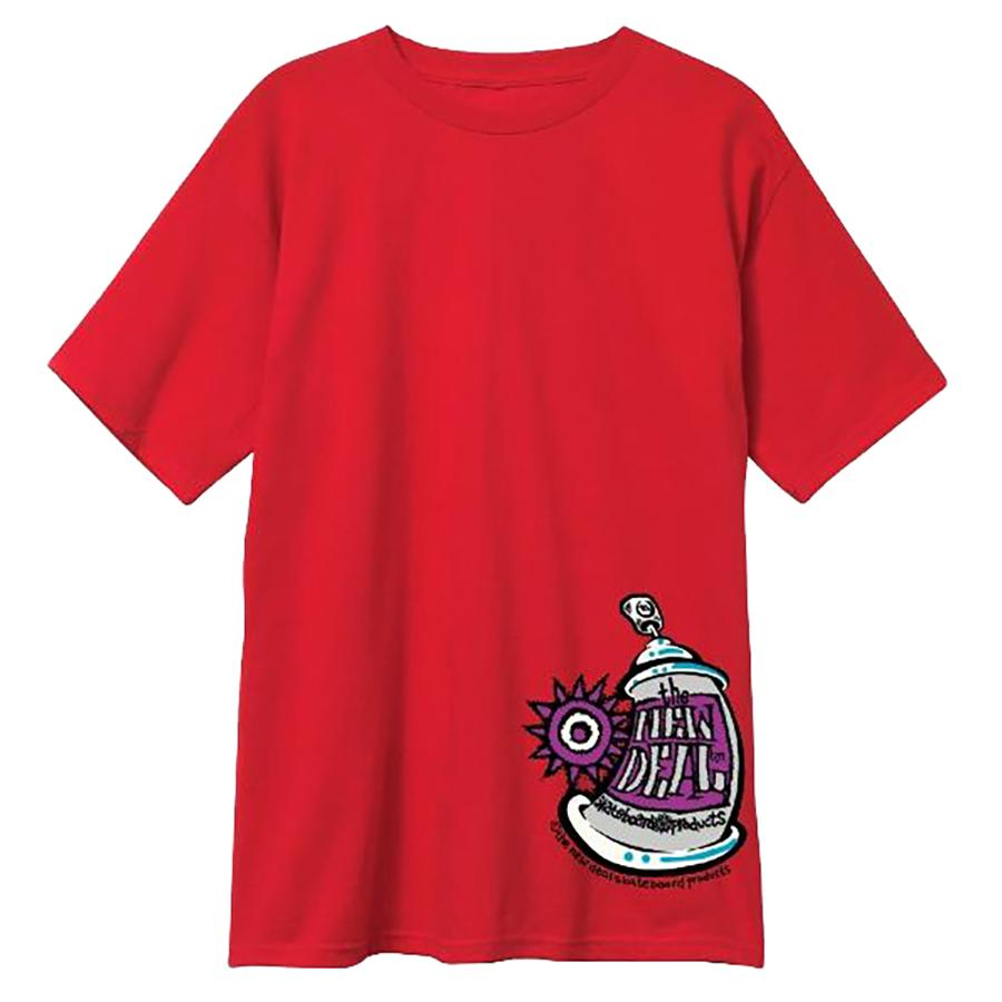 New Deal Spray Can T-shirt - Red | T-Shirt by New Deal Skateboards 1