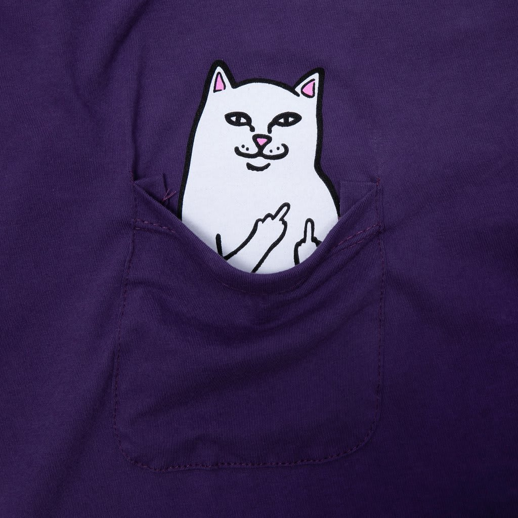 Ripndip Lord Nermal Pocket T-Shirt - Purple | T-Shirt by Ripndip 2