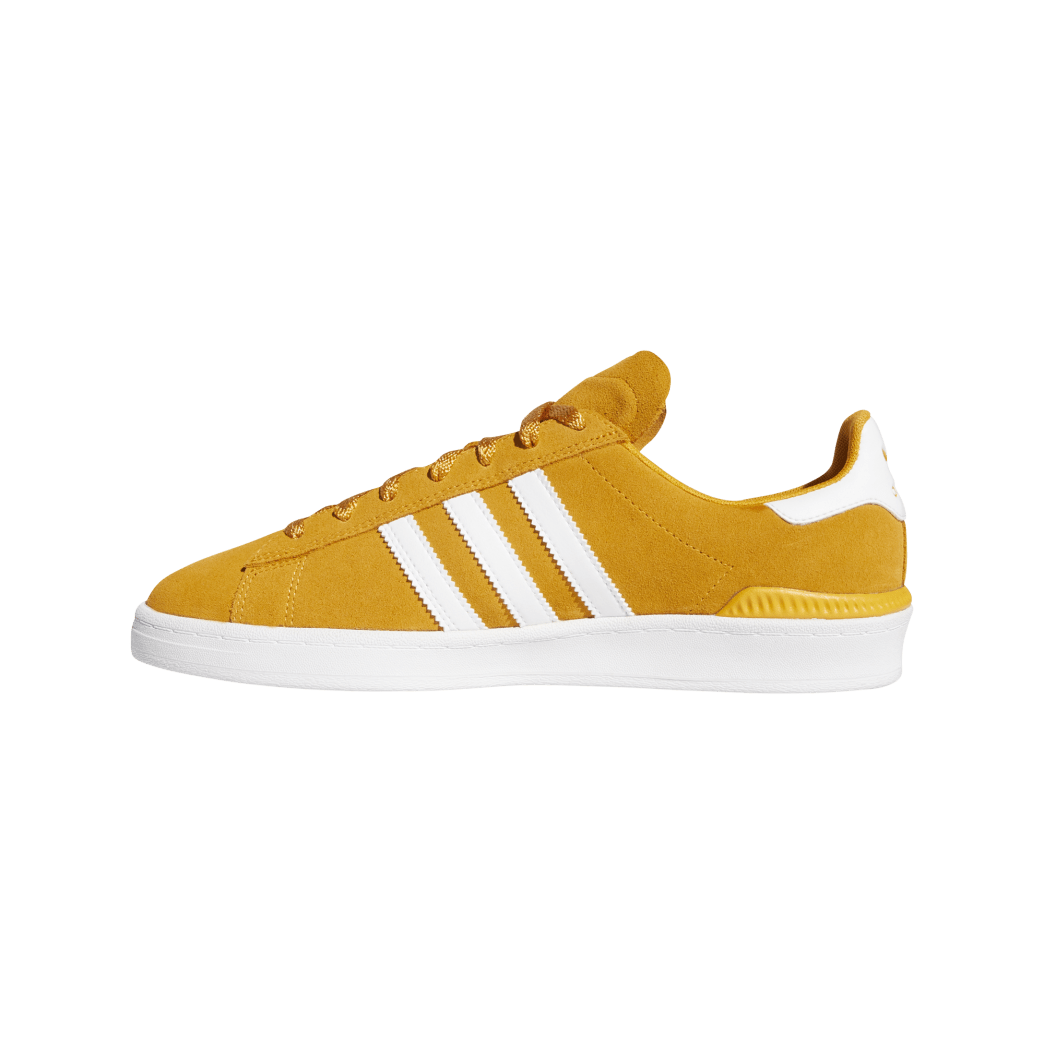 adidas Campus ADV Skate Shoes - Tactile Yellow / Cloud White / Gold Metallic | Shoes by adidas Skateboarding 2