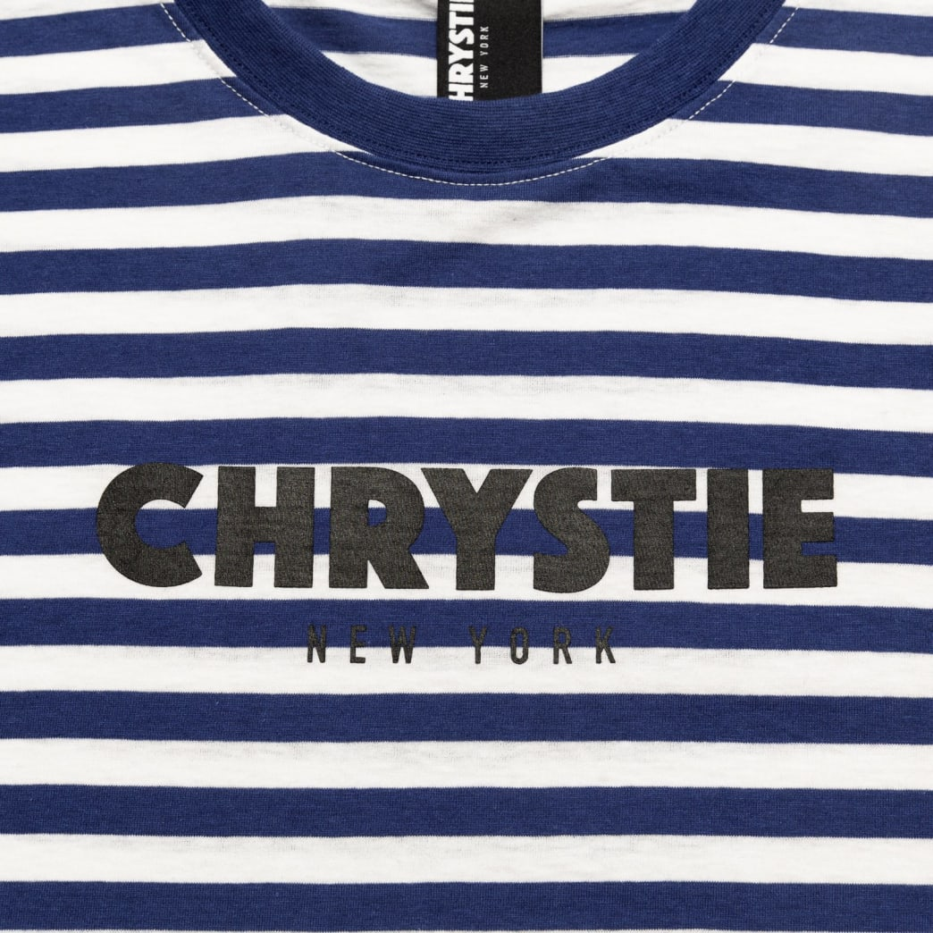 Chrystie OG Logo Stripe T-Shirt_Blue | T-Shirt by Chrystie NYC 2