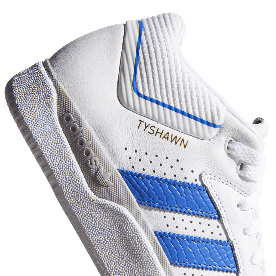 adidas Tyshawn Jones Skate Shoes - Cloud White / Blue / Gold Metallic | Shoes by adidas Skateboarding 7