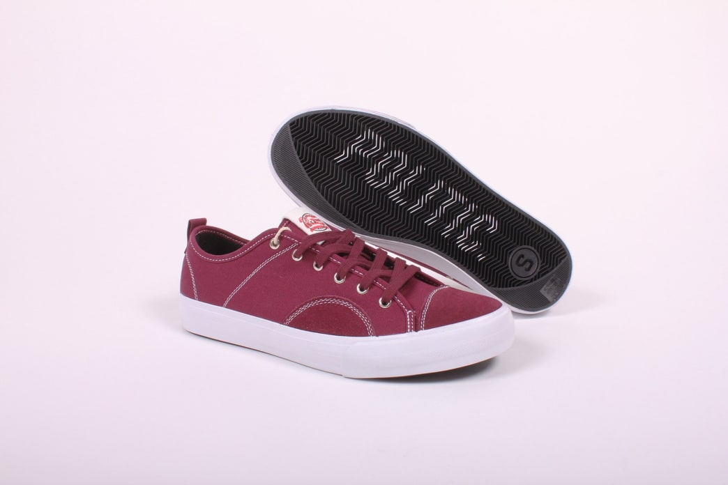 State Harlem x Politic Black Cherry Canvas/Suede | Shoes by State Footwear 1