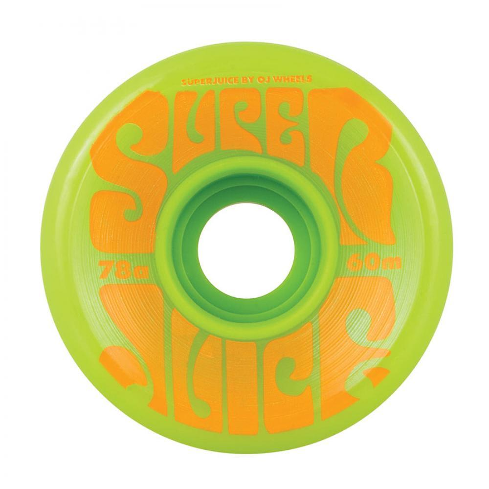 OJ Super Juice 78a 60mm Skateboard Wheels - Green | Wheels by Oj Wheels 1