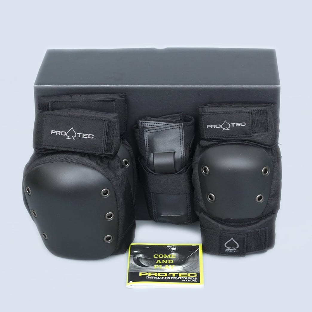 Pro-Tec 3 Pack Youth Street Gear Padset Black | Pads by Pro-Tec 1