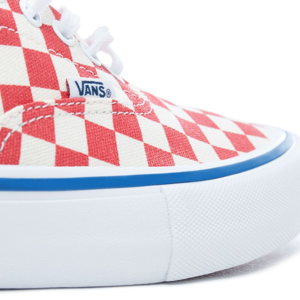 Vans Checkerboard Era Pro Skateboard Shoes - Rococco Red/Classic White | Shoes by Vans 7