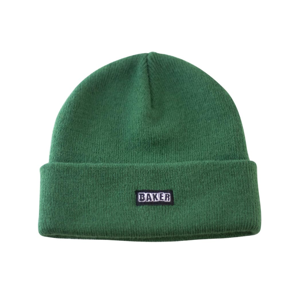 Baker Brand Logo Hunter Green Beanie | Beanie by Baker Skateboards 1