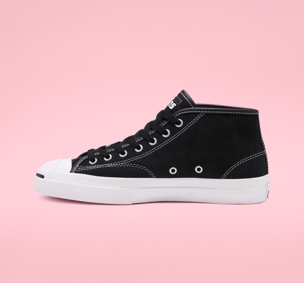 Converse Cons Jack Purcell Pro Mid Skateboarding Shoe - Black / White / Black | Shoes by Converse Cons 2