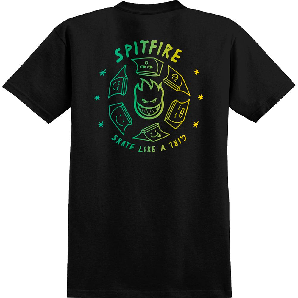 Spitfire X Skate Like A Girl Fade T-Shirt | T-Shirt by Spitfire Wheels 3