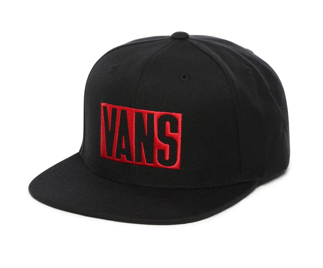 Vans New Stax Snapback - Black/Red | Hat by Vans 1