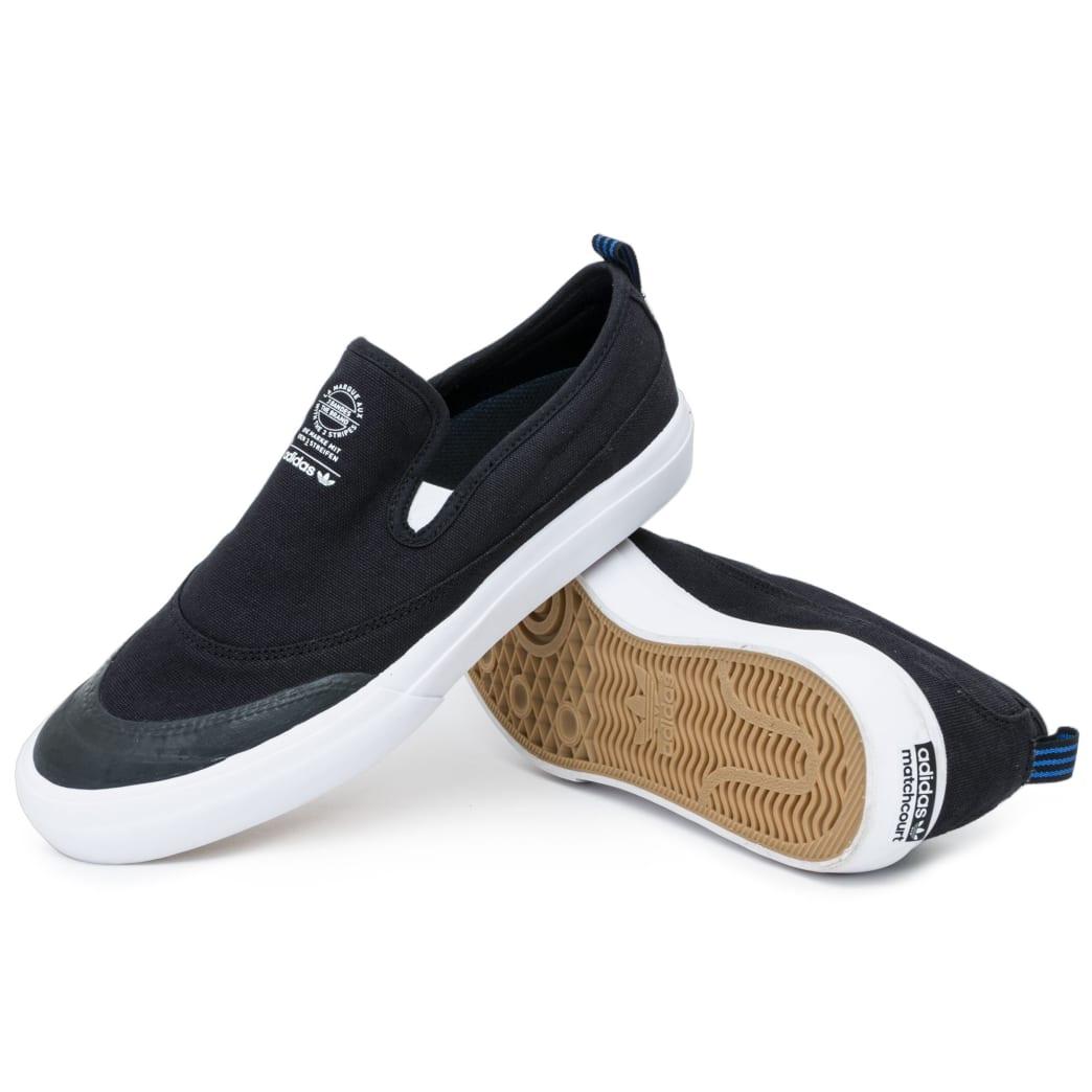 Adidas Matchcourt Slip On Shoes - Black/Black/White   Shoes by adidas Skateboarding 1