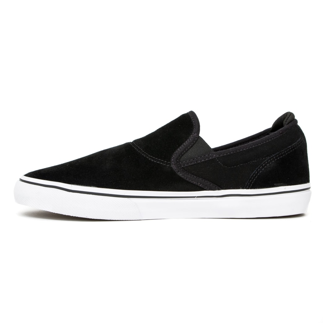 Emerica Wino G6 Slip On Skate Shoes - Black / White / Gold | Shoes by Emerica 2