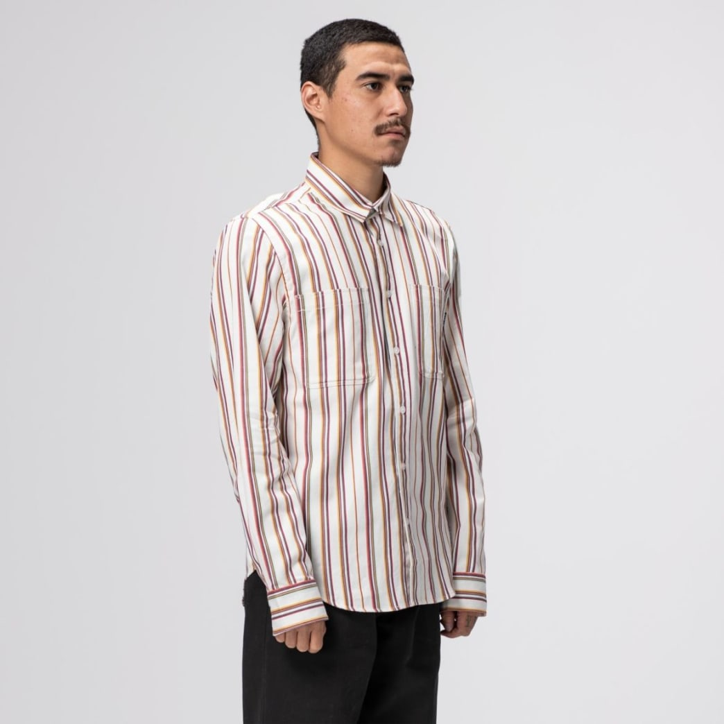 Huf Taylor Work Woven Long Sleeve - White | Shirt by HUF 4
