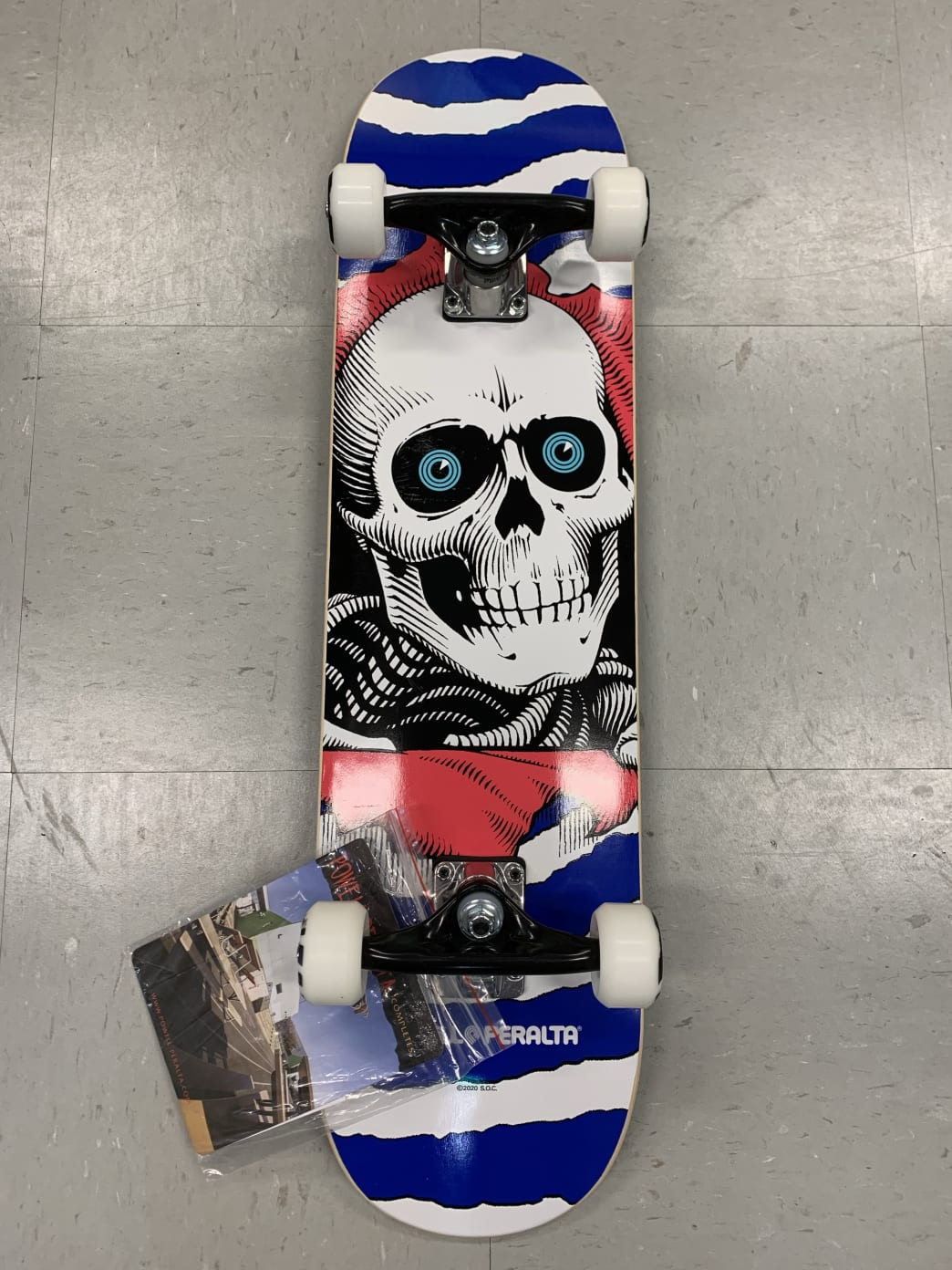 Powell Peralta Skateboards Reaper Complete Blue 7.8 | Complete Skateboard by Powell Peralta 1