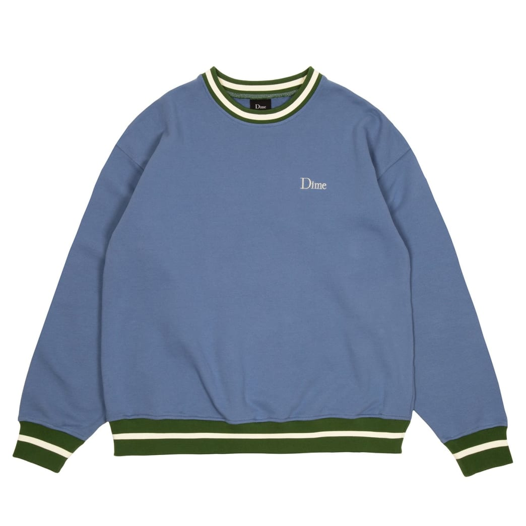 Dime Classic French Terry Crewneck - Blue | Sweatshirt by Dime MTL 1