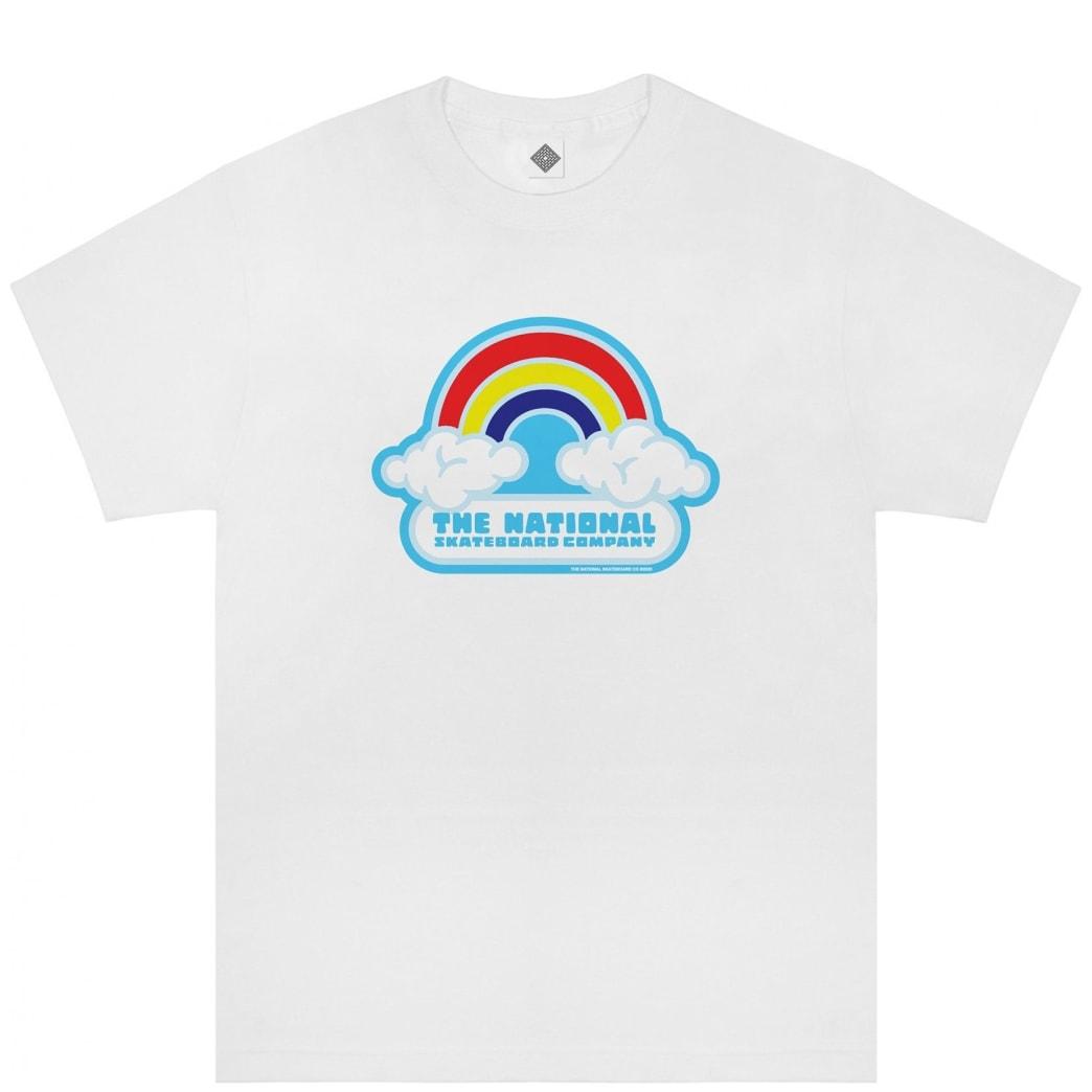 The National Skateboard Co Double Rainbow T-Shirt - White | T-Shirt by The National Skateboard Co. 1