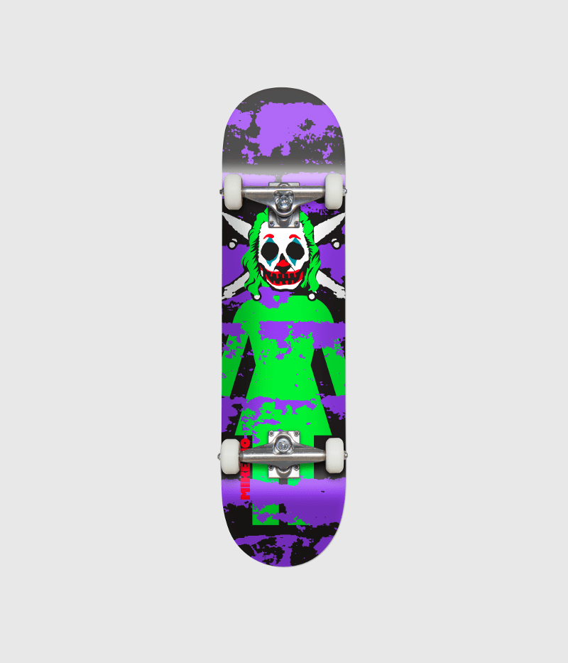 """Girl Skateboards Clown Pirate Complete Skateboard 8.125"""" 