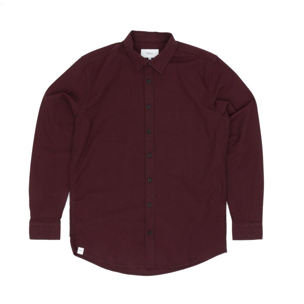 Makia Manor Long Sleeved Shirt - Dark Red | Shirt by Makia Clothing 1