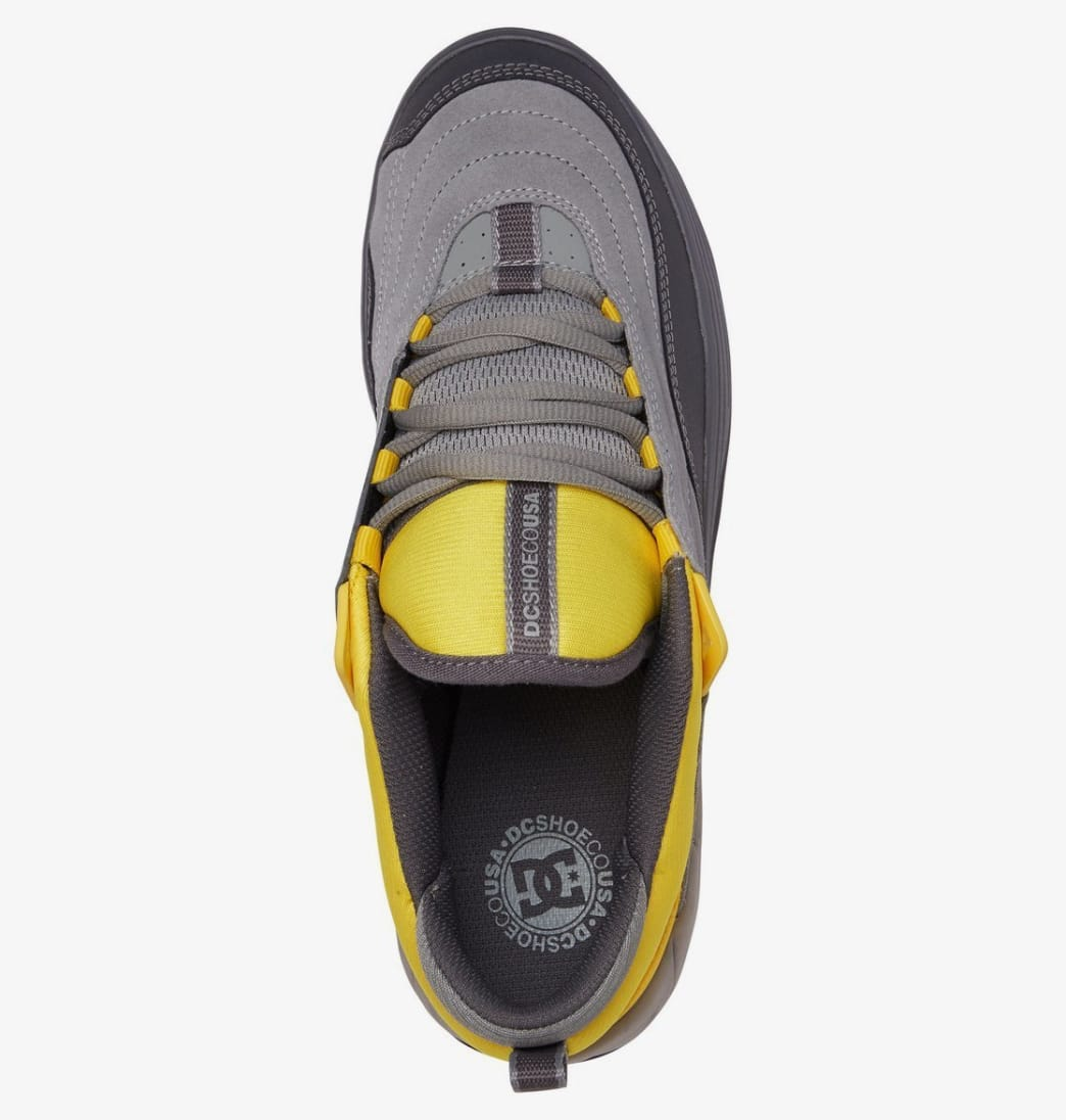 DC Williams Slim S Skateboarding Shoes - Grey/Yellow | Shoes by DC Shoes 4