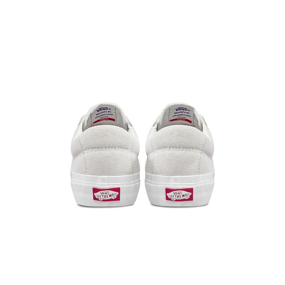 Vans Saddle Sid Pro Skateboard Shoes - Marshmallow/Racing Red | Shoes by Vans 4