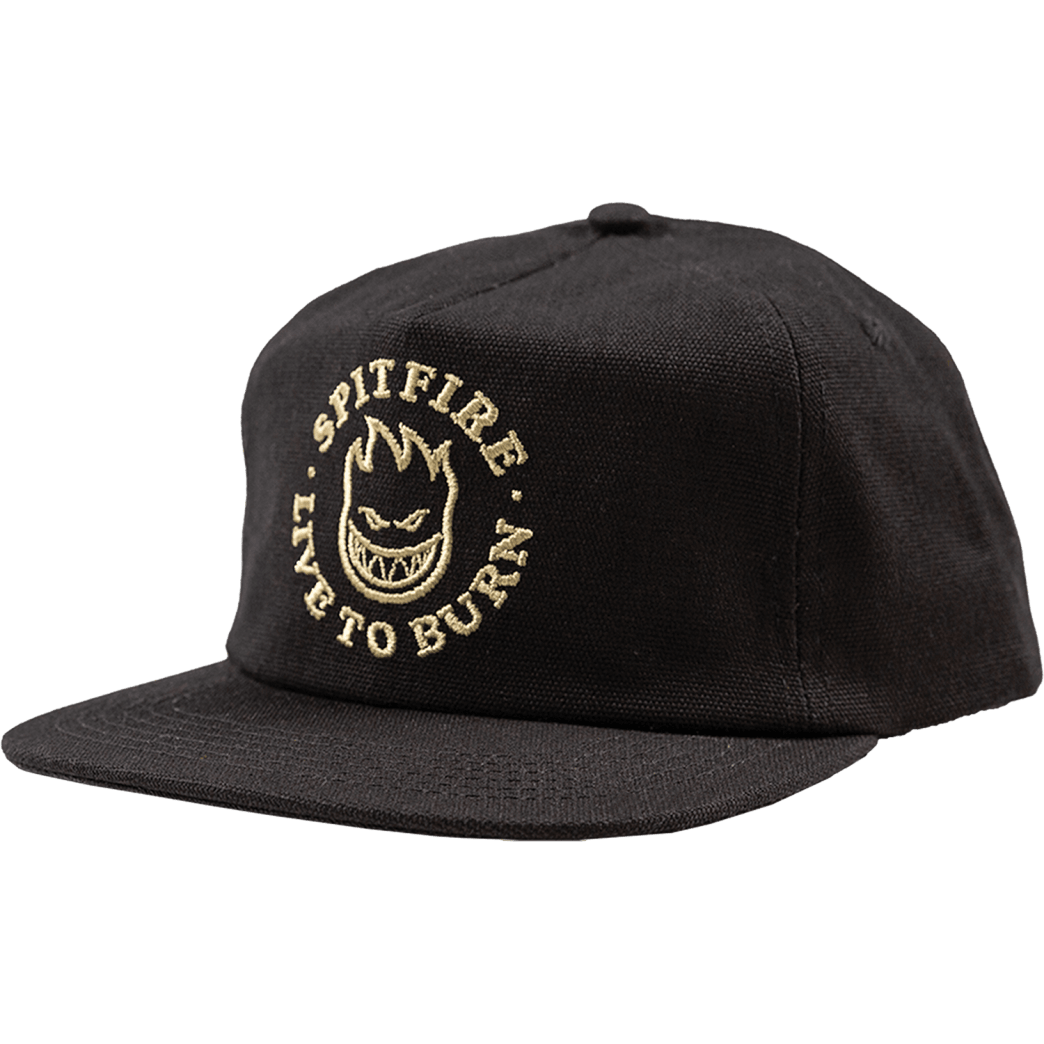 SPITFIRE BIGHEAD LIVE TO BURN SNAPBACK HAT - BLACK KHAKI | Snapback Cap by Spitfire Wheels 1
