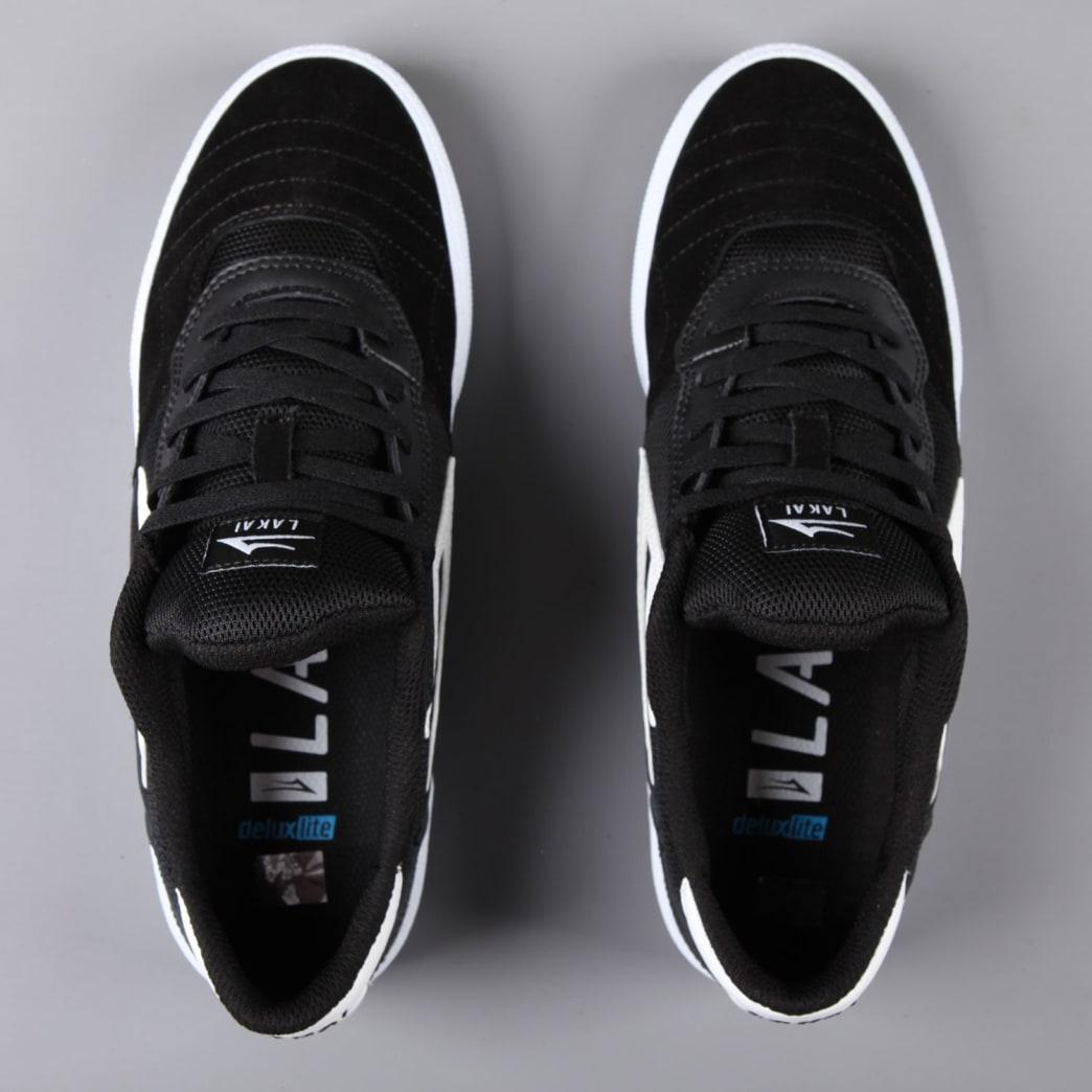Lakai 'Cambridge' Skate Shoes (Black / White Suede) | Shoes by Lakai 5