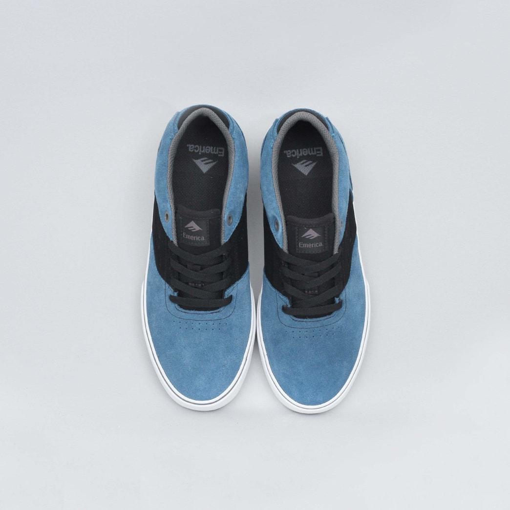 Emerica The Reynolds Low Vulc Shoes (Kids) - Blue / Black / White | Shoes by Emerica 5