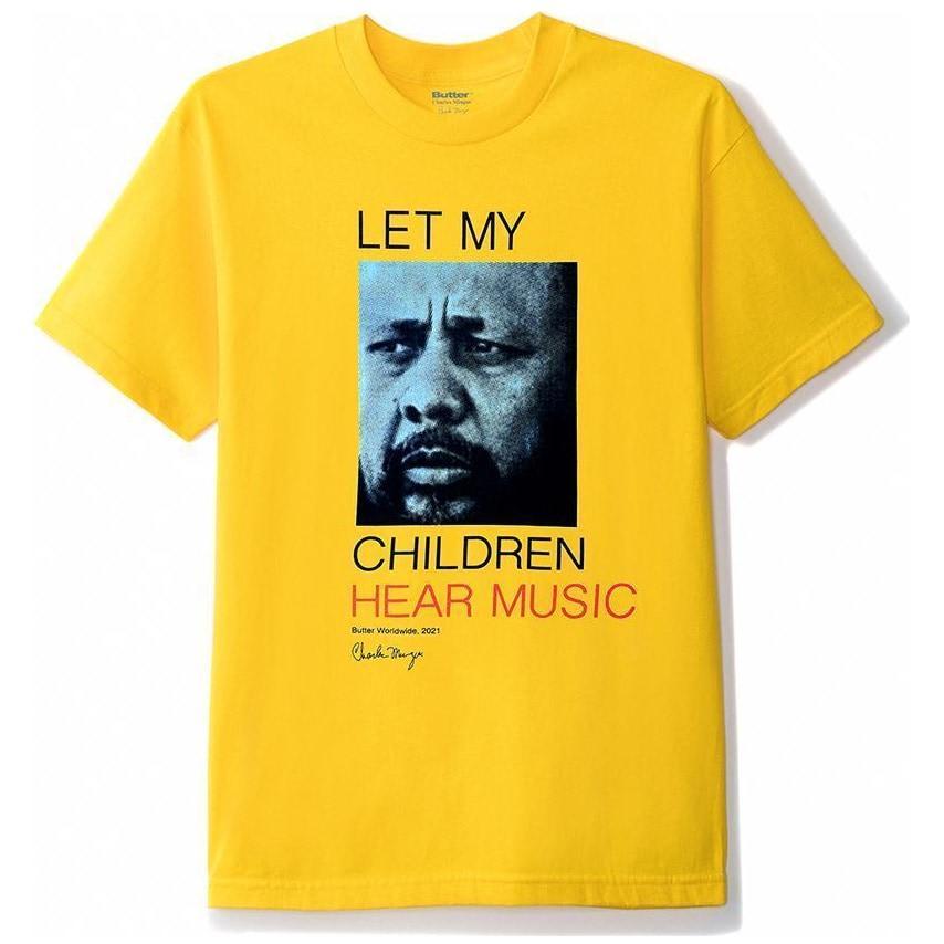Butter Goods Let My Children Hear Music T-Shirt - Yellow | T-Shirt by Butter Goods 1