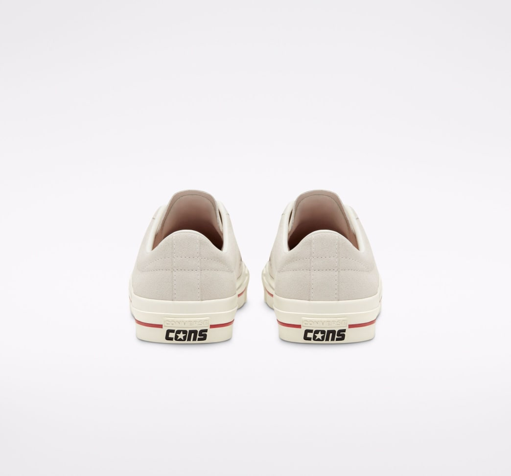 Converse Cons One Star Pro Ox Skate Shoe - Egret / Claret Red / Egret | Shoes by Converse Cons 8